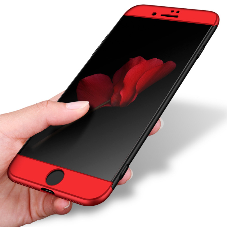 GKK 360 Protection pouzdro pro iPhone SE 2020 / 8 / 7 black and red