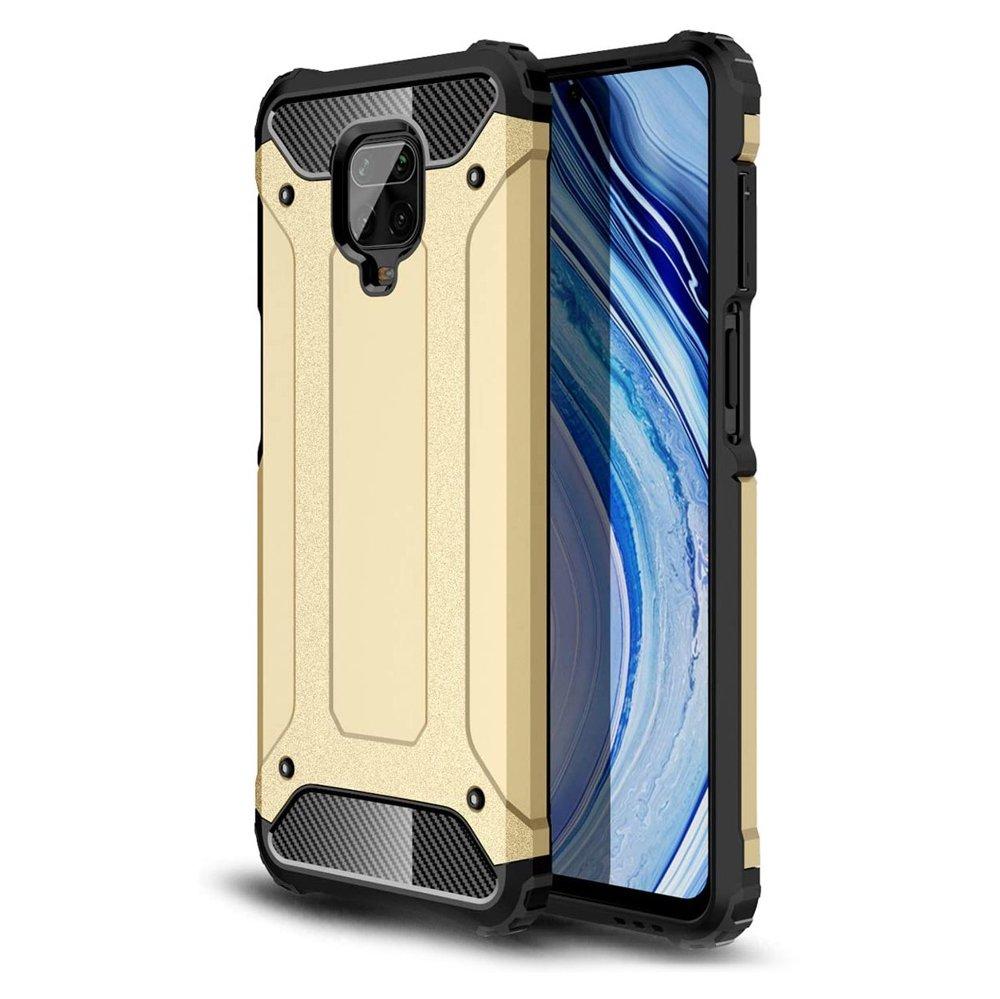 Hybrid pancéřové polykarbonátové pouzdro na Xiaomi Redmi NOTE 9 PRO / NOTE 9S golden