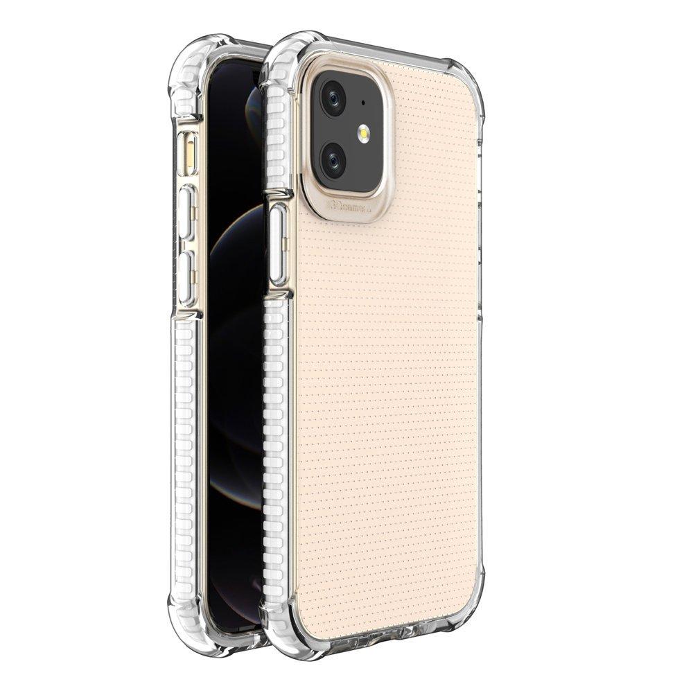 """Spring Armor silikonové pouzdro s barevným lemem na iPhone 12 Mini 5,4"""" white"""
