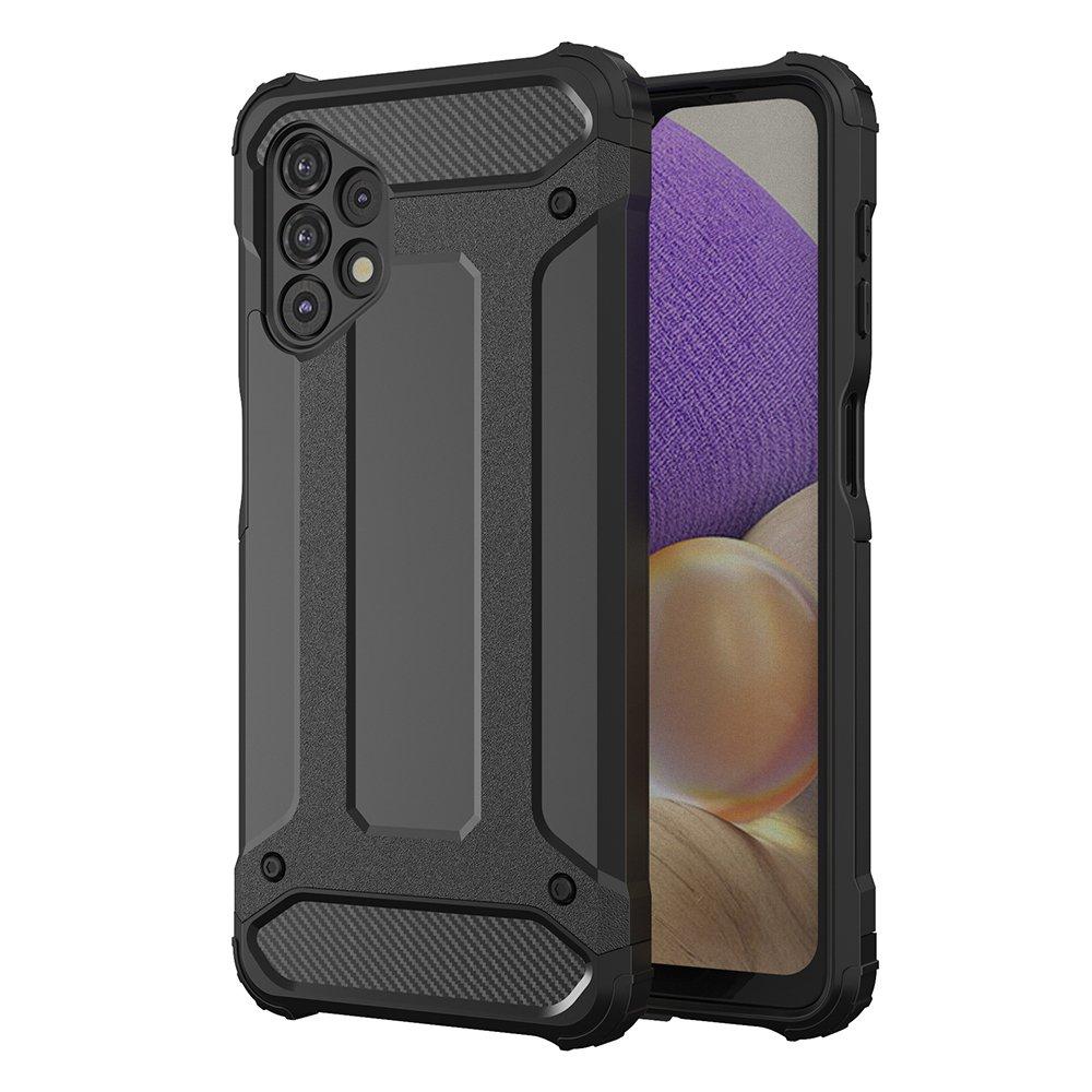 Hybrid pancierové polykarbonátové púzdro pre Samsung Galaxy A32 5G black