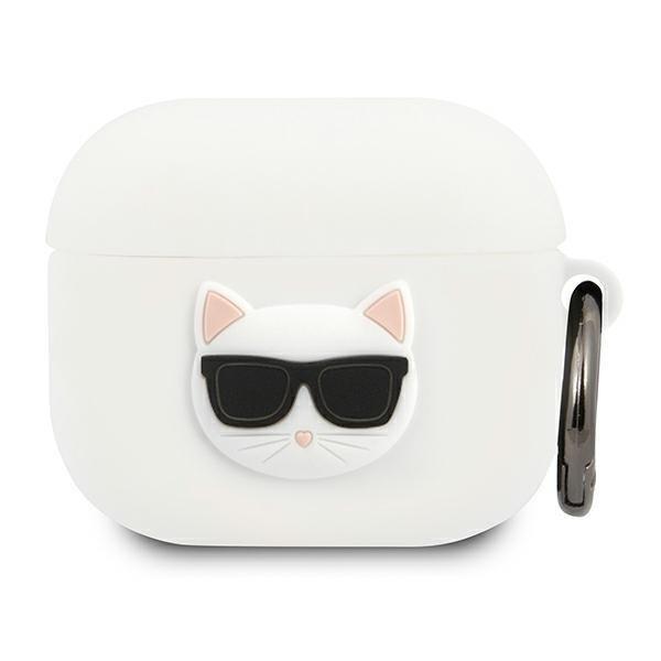 Karl Lagerfeld KLACA3SILCHWH Kryty AirPods 3 biela / biela silikónová choupeta