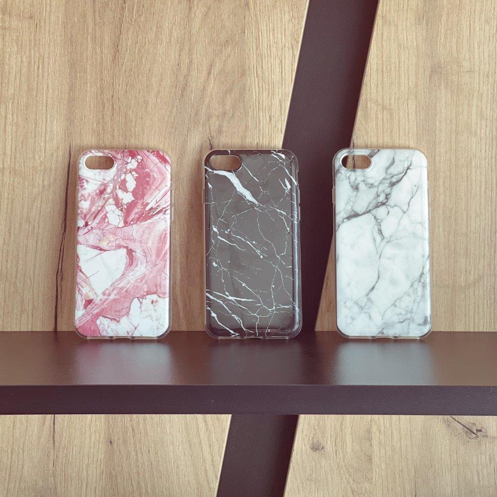 Wozinsky Marble silikonové pouzdro pro iPhone XS / iPhone X white