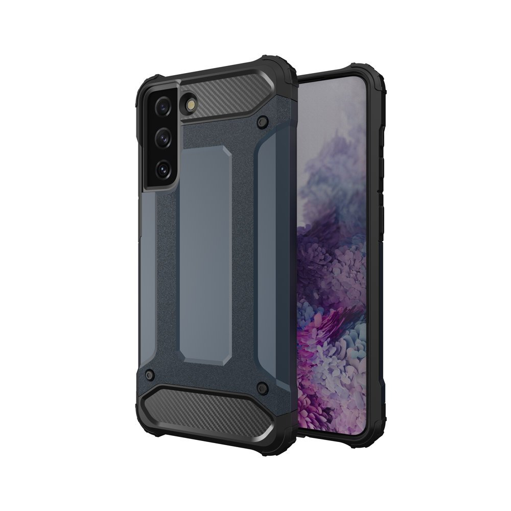 Hybrid Armor Case odolné pouzdro pro Samsung Galaxy S21 Ultra 5G , modrá 9111201923799