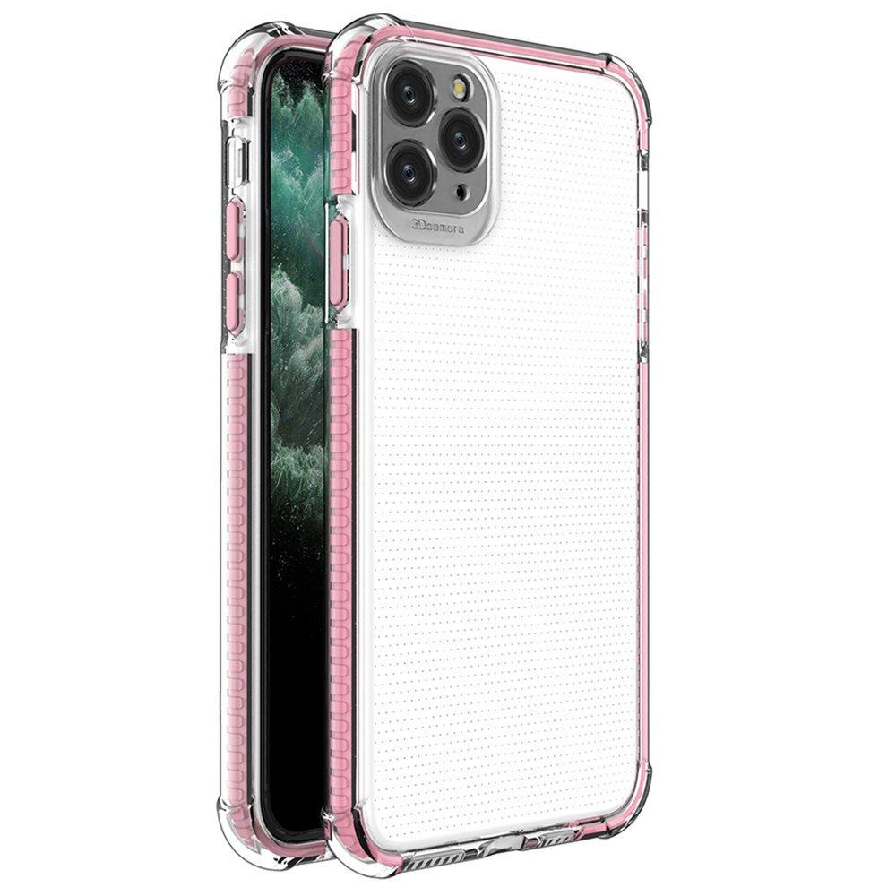 Spring Armor silikonové pouzdro s barevným lemem na iPhone 11 Pro Max pink