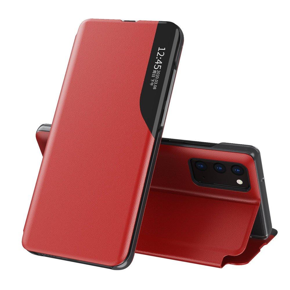 Knížkové puzdro s imitáciou kože pre Samsung Galaxy A72 red