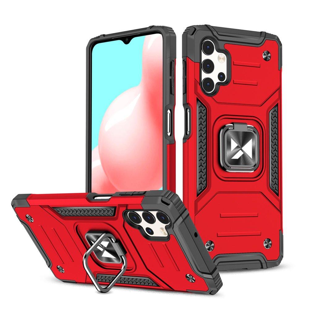Wozinsky Hybrid pancierové púzdro s krúžkom pre Samsung Galaxy A32 4G red