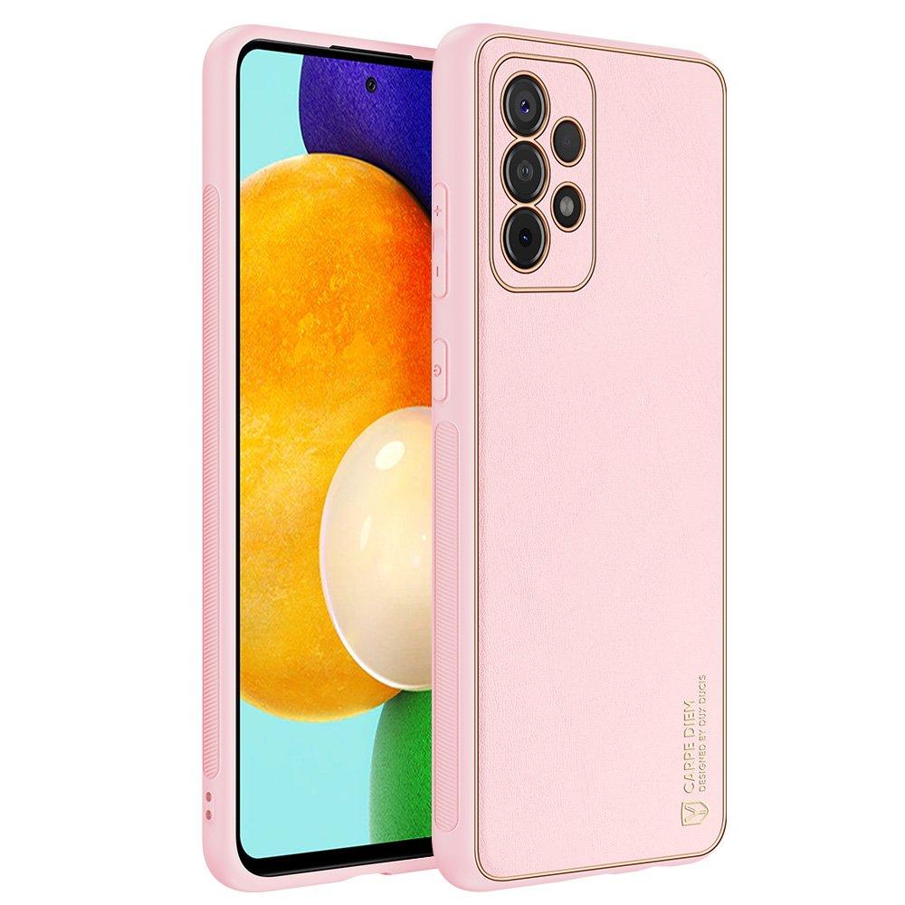 Dux Ducis Yolo púzdro z Eko kože pre Samsung Galaxy A52 / A52 5G pink
