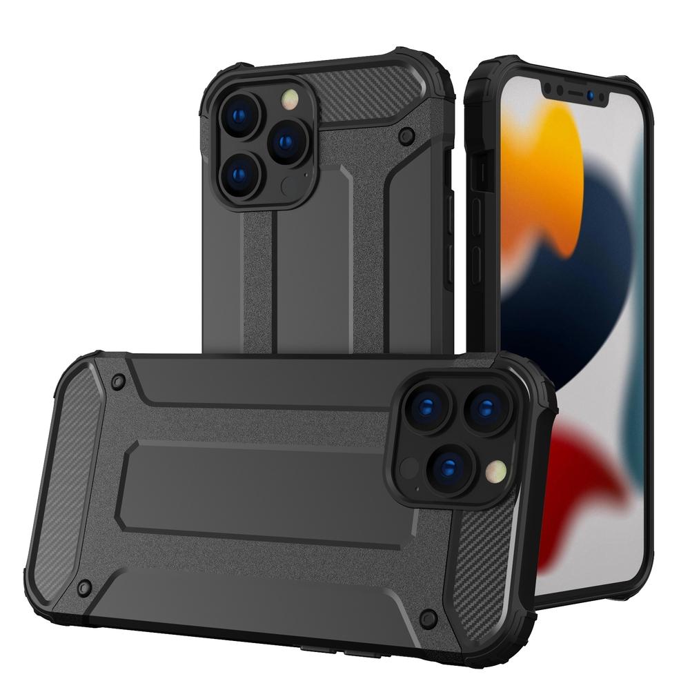 """Hybrid pancierové polykarbonátové púzdro preiPhone 13 Pro MAX 6.7"""" black"""