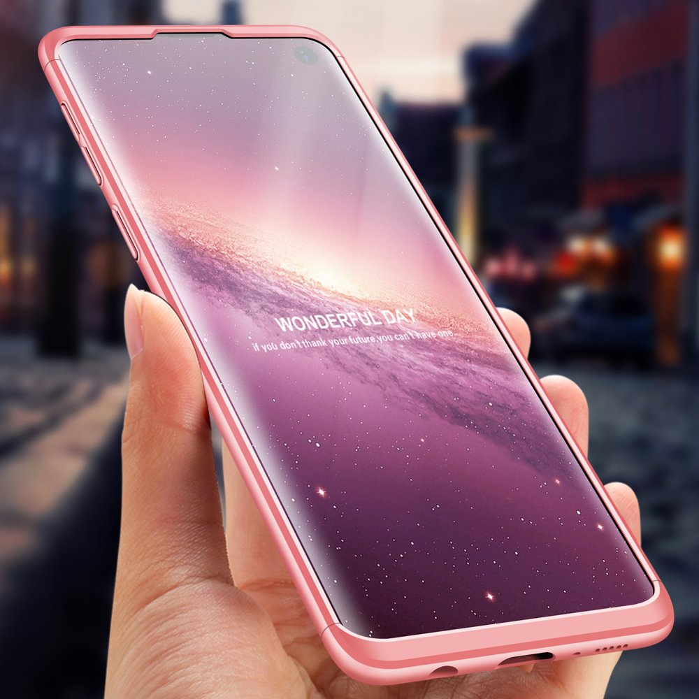 GKK 360 Protection pouzdro pro Samsung Galaxy S10 Plus pink