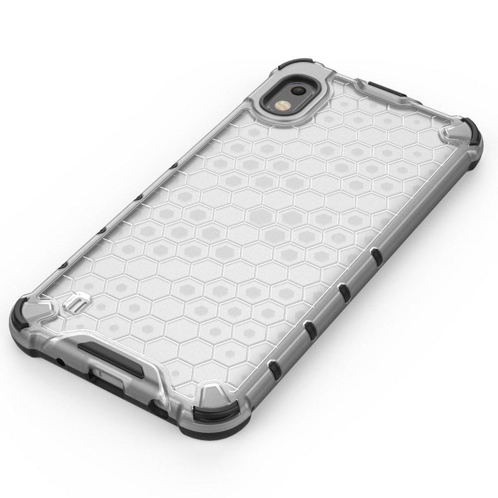 Honeycomb pancéřové pouzdro se silikonovým rámem pro Samsung Galaxy A10 blue