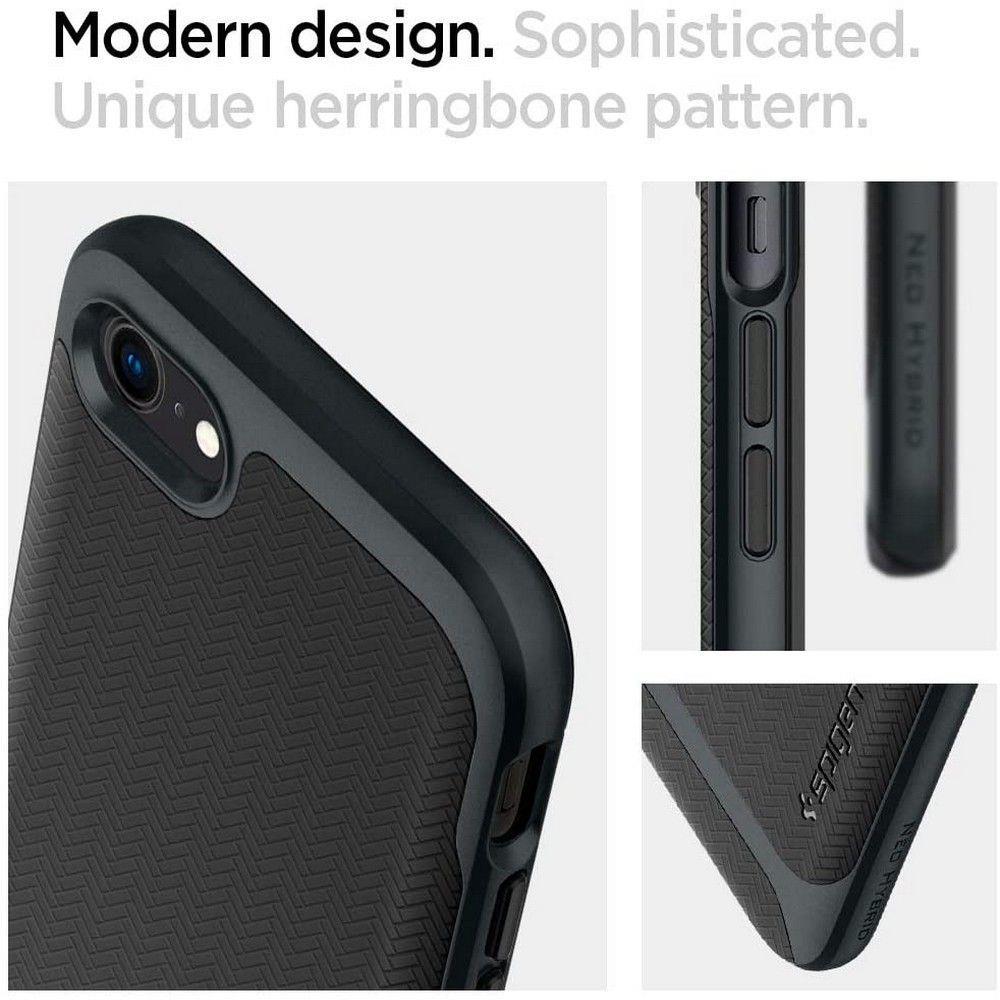 Spigen NEO Hybrid pancierové puzdro na iPhone SE 2020 / 8 / 7 Metal Slate