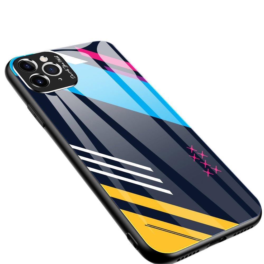 Color Glass kryt z tvrzeného skla 9H + ochrana fotoaparátu na iPhone 11 Pro Max pattern 2