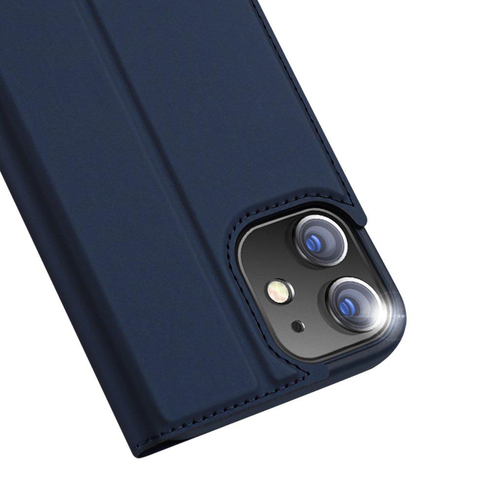 DUX DUCIS Skin knížkové pouzdro na iPhone 12 / 12 Pro blue