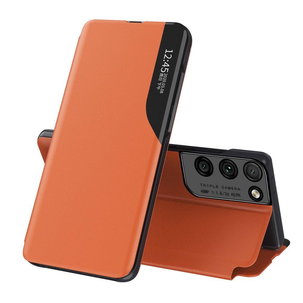 Flipové pouzdro Eco Leather View Case Samsung Galaxy S21 Ultra 5G , oranžová 9111201925168