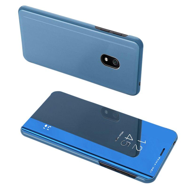 Knižkove púzdro pre Xiaomi Redmi 8A blue s priehľadnou prednou stranou