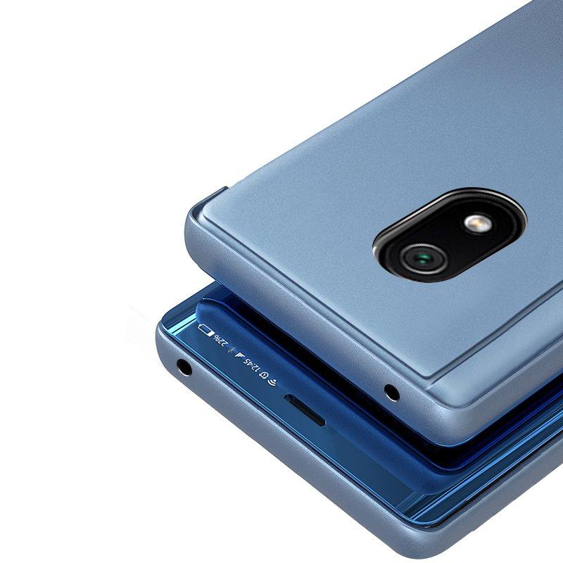 Knížkové pouzdro na Xiaomi Redmi 8A s průhlednou přední stranou blue