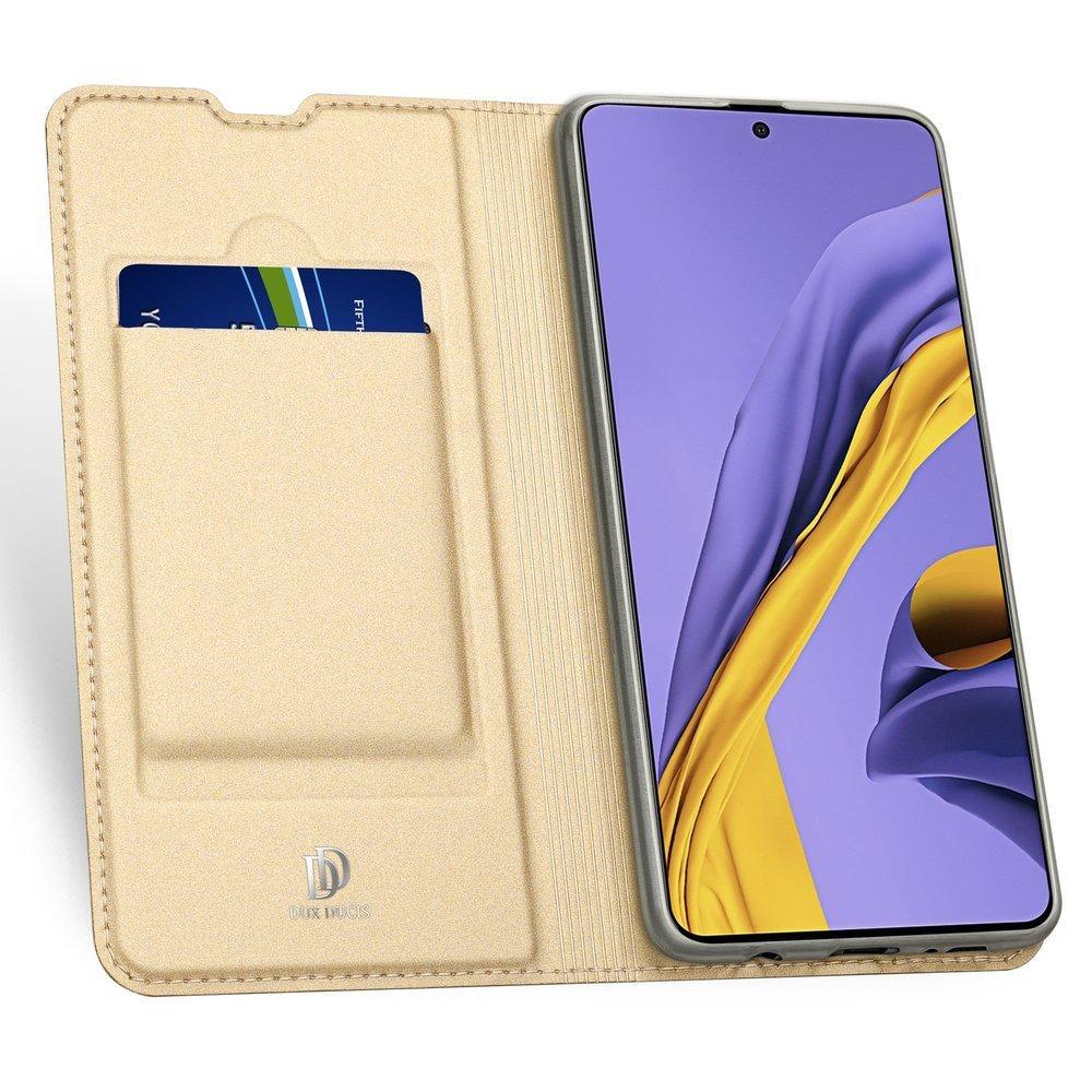 DUX DUCIS Skin knížkové pouzdro na Samsung Galaxy A71 golden