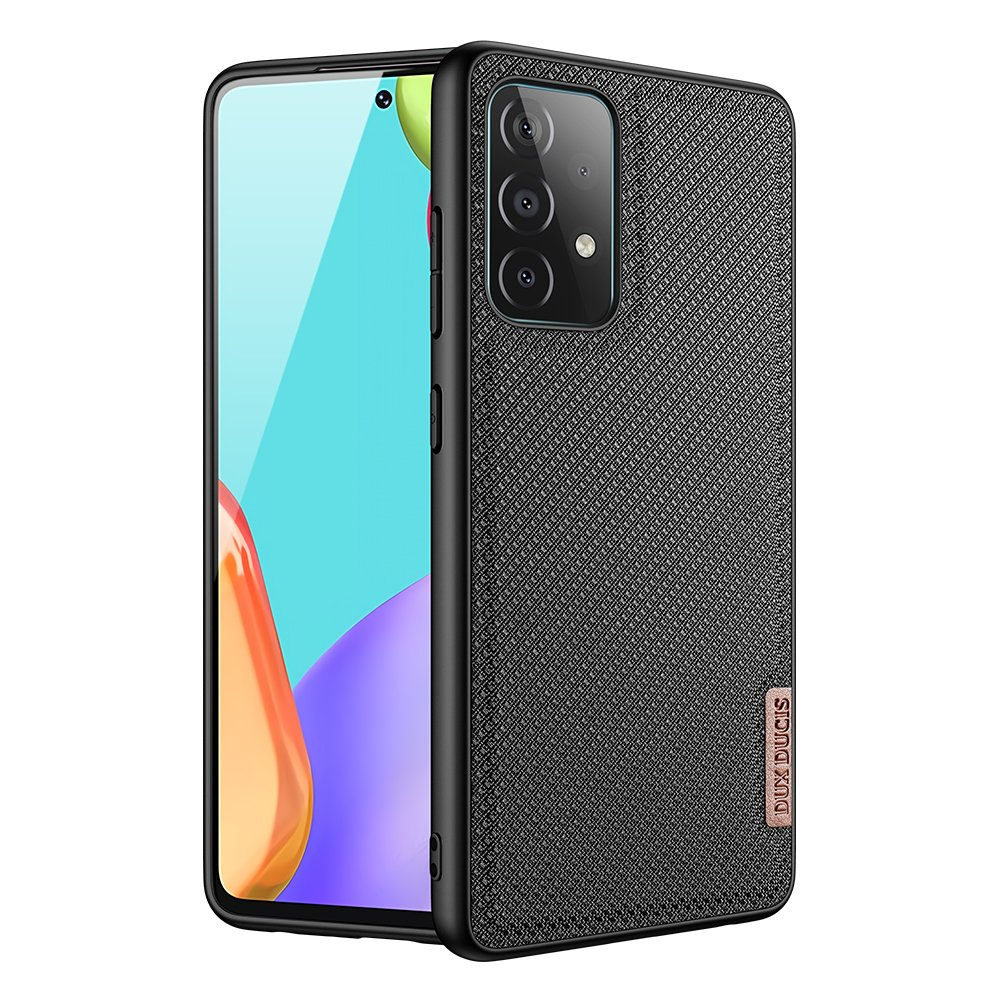 Luxusní pouzdro Dux Ducis Fino Nylon ,  Samsung Galaxy A72 4G , černá 6934913053669