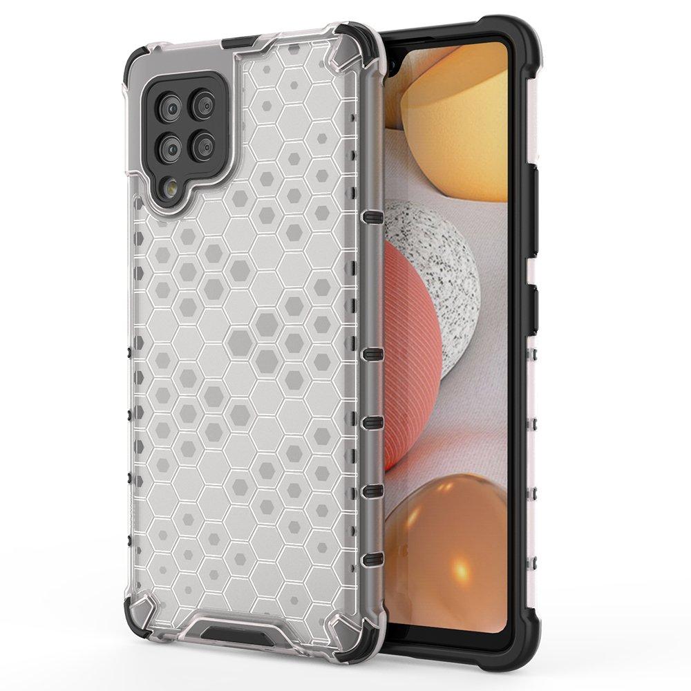 Honeycomb pancéřové pouzdro se silikonovým rámem pro Samsung Galaxy A42 5G transparent