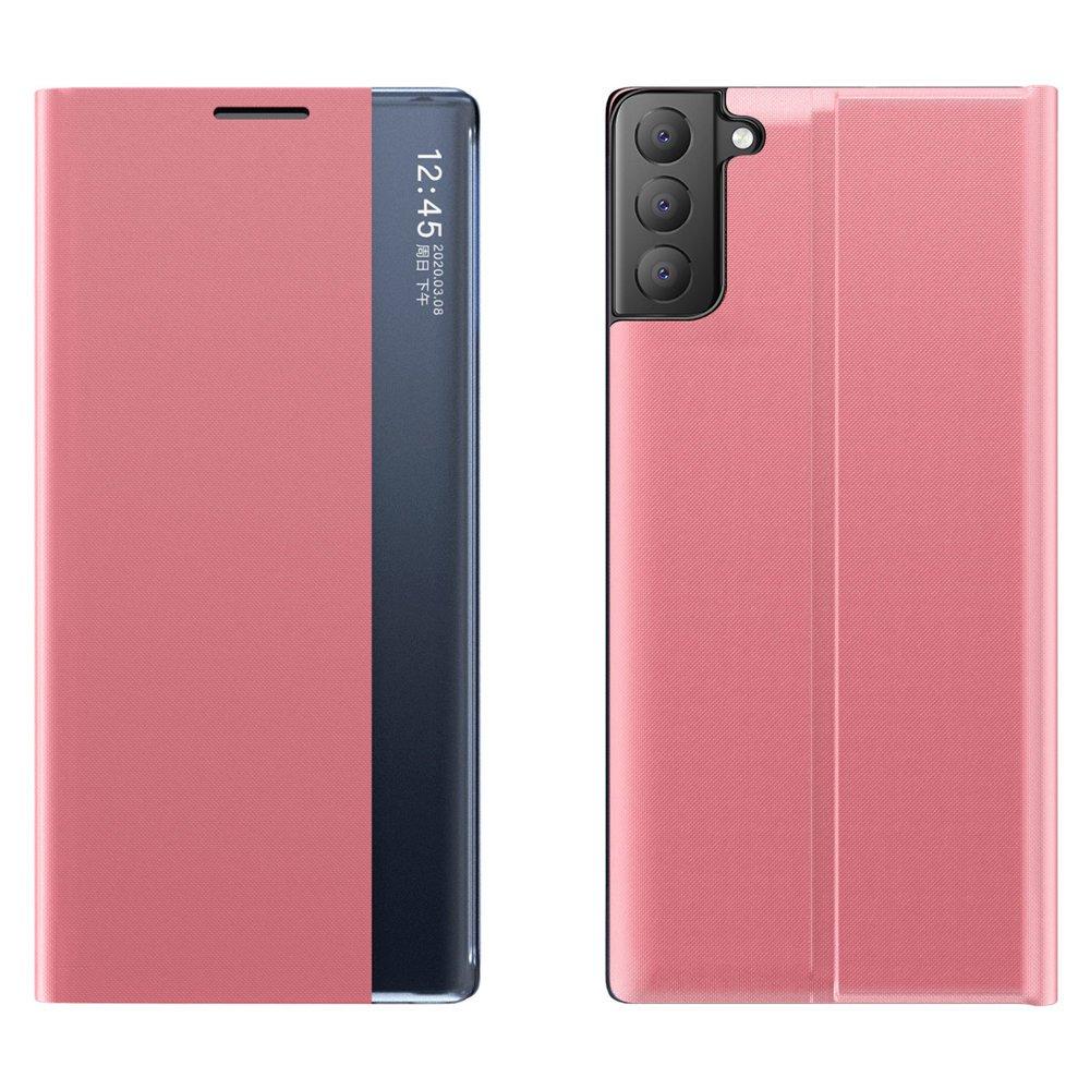 New Sleep knížkové púzdro preSamsung Galaxy S21 FE 5G pink