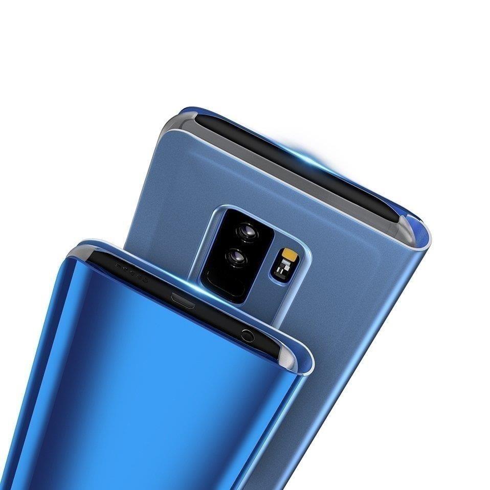 Knižkove púzdro pre Huawei Y6 2019 black s priehľadnou prednou stranou