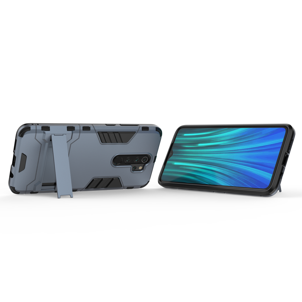 Hybrid pancéřové polykarbonátové pouzdro se stojánkem na Xiaomi Redmi Note 8 Pro blue