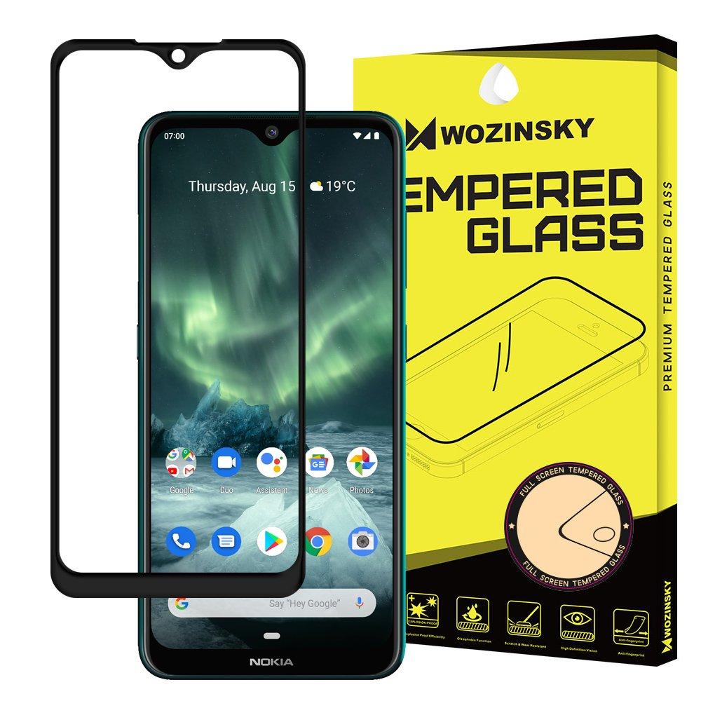 Celoplošné temperované tvrzené sklo na Nokia 7.2 / Nokia 6.2 black