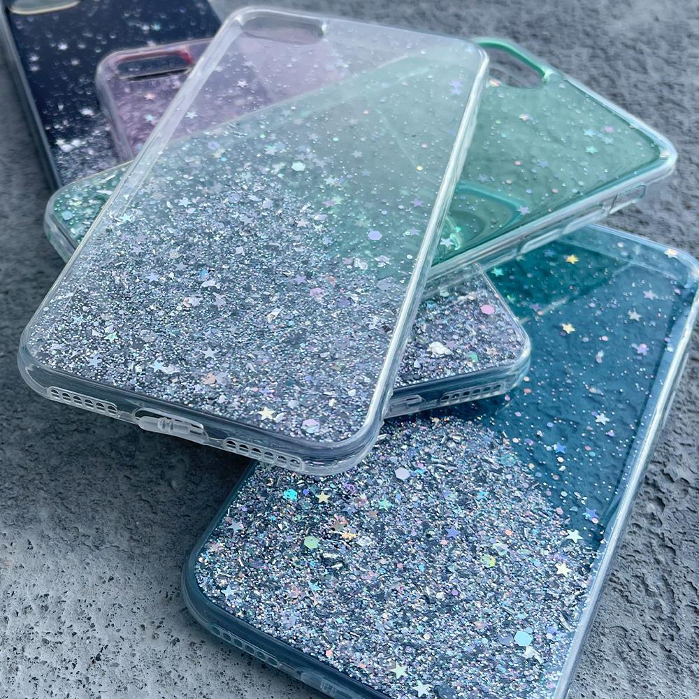 Wozinsky Star Glitter silikonové pouzdro na iPhone XS / iPhone X transparent