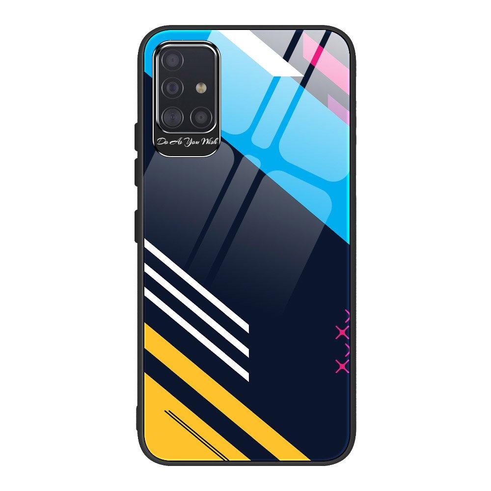 Color Glass kryt z tvrzeného skla 9H na Samsung Galaxy A51 vzor 2