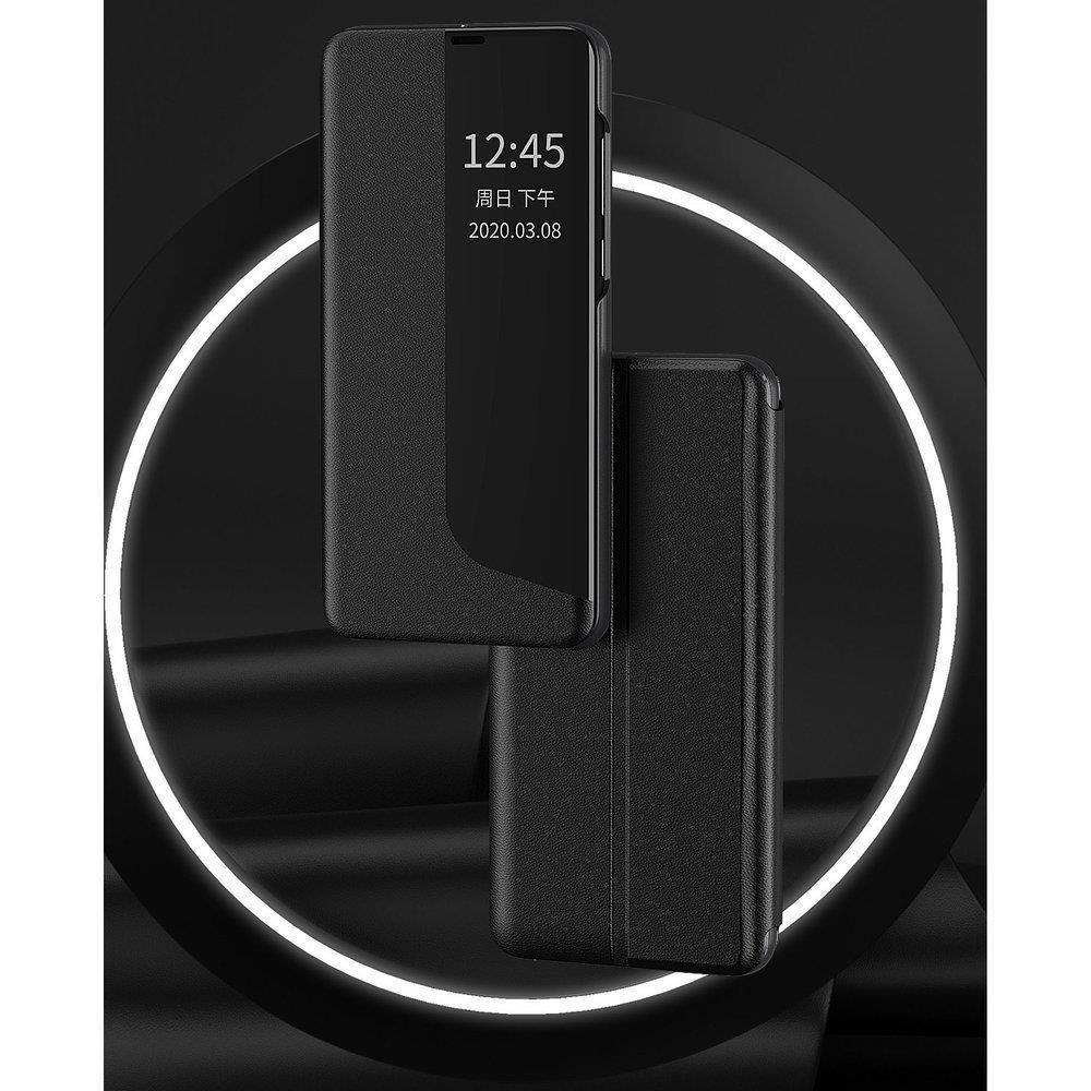 Knížkové pouzdro s imitací kůže na Huawei P40 Lite E orange