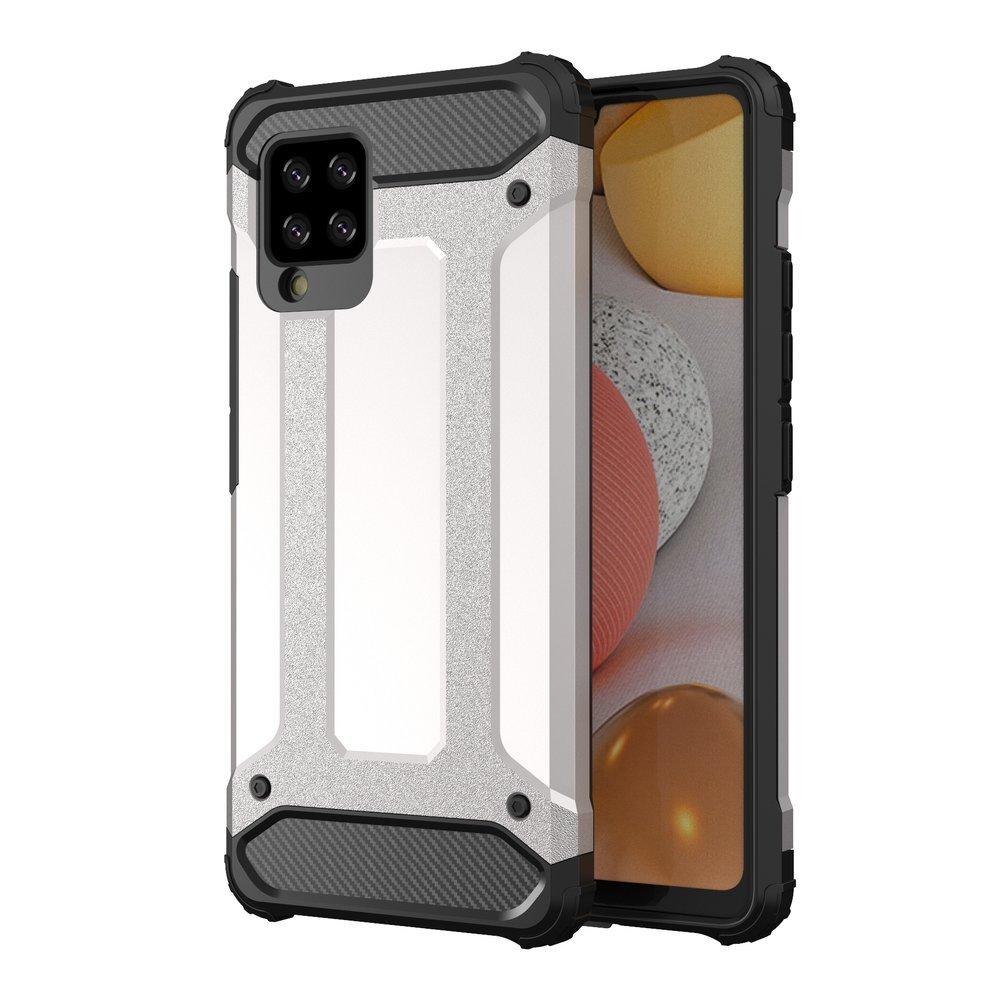 Hybrid Armor Case odolné pouzdro pro Samsung Galaxy A42 5G , stříbrná 9111201914797