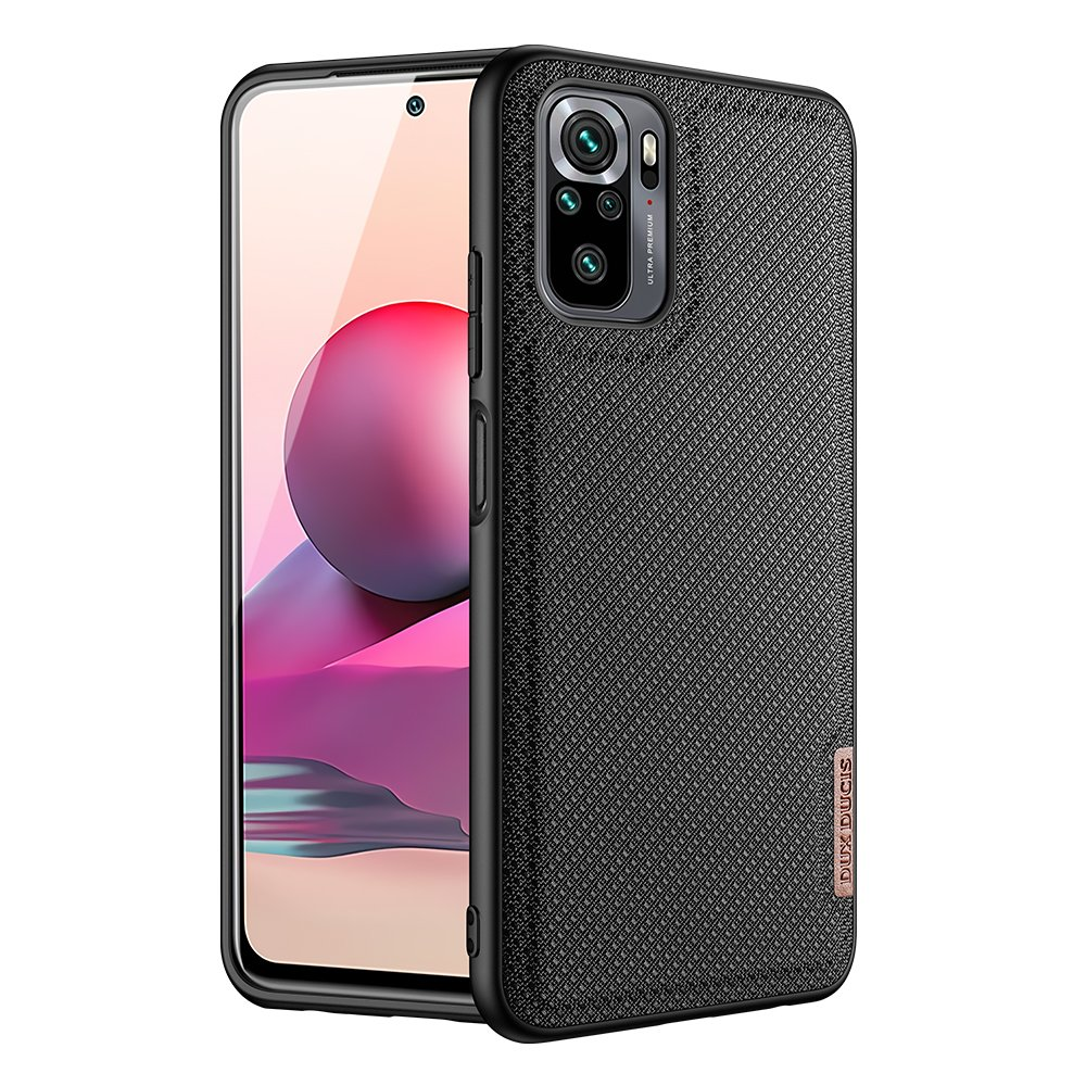 Luxusní pouzdro Dux Ducis Fino Nylon ,  Xiaomi Redmi Note 10 / Redmi Note 10S , černá 6934913051948