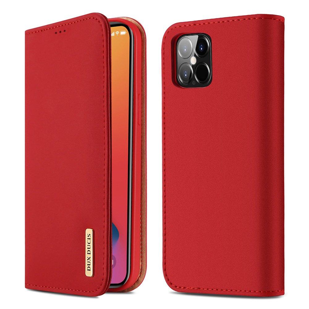 "DUX DUCIS Wish kožené pouzdro na iPhone 12 Pro Max 6.7"" red"