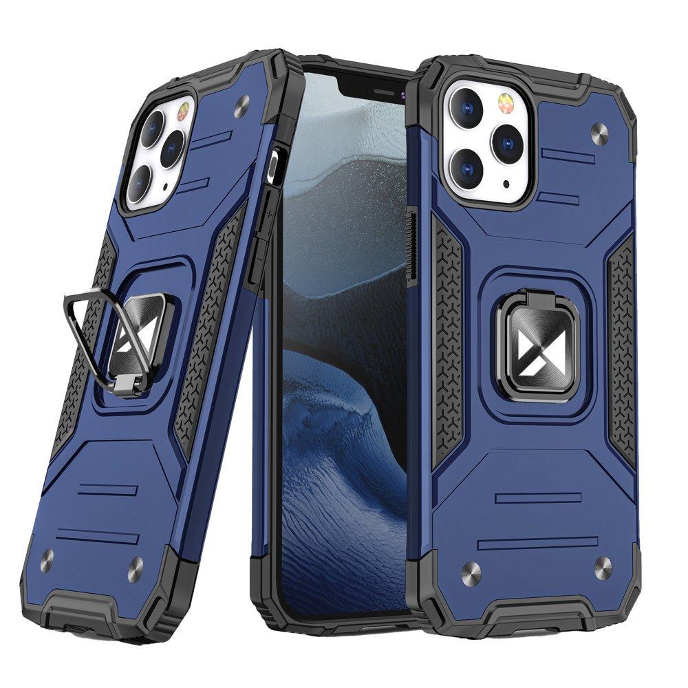 Wozinsky Pouzdro Ring Armor s magnetickým úchytem pro iPhone 12 Pro / iPhone 12 , modrá