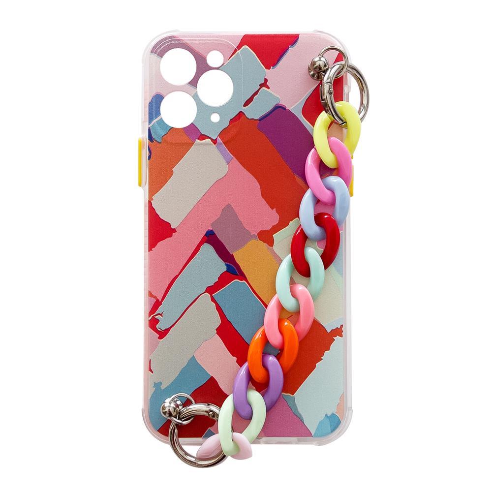 Silikónové puzdro s retiazkou na iPhone SE 2020 / iPhone 8 / iPhone 7 multicolour