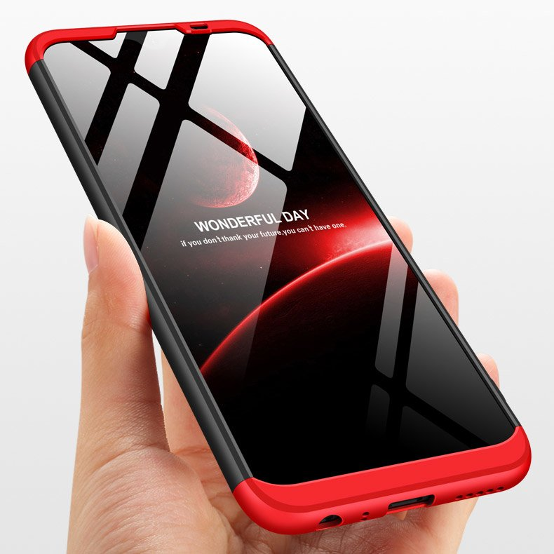 GKK 360 Protection pouzdro na Xiaomi Redmi Note 8T black-red