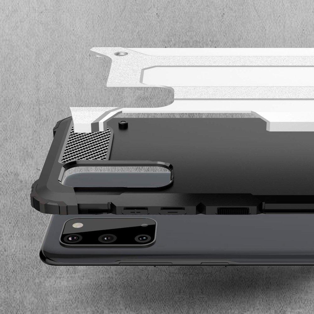 Hybrid pancéřové polykarbonátové pouzdro na Samsung Galaxy S20 blue