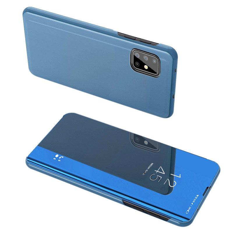 Knížkové pouzdro na Samsung Galaxy A51 5G / A31 blue s průhlednou přední stranou