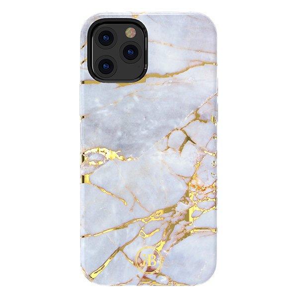 "Kingxbar Marble Series silikonové pouzdro na iPhone 12 / iPhone 12 Pro 6,1"" White/Blue"