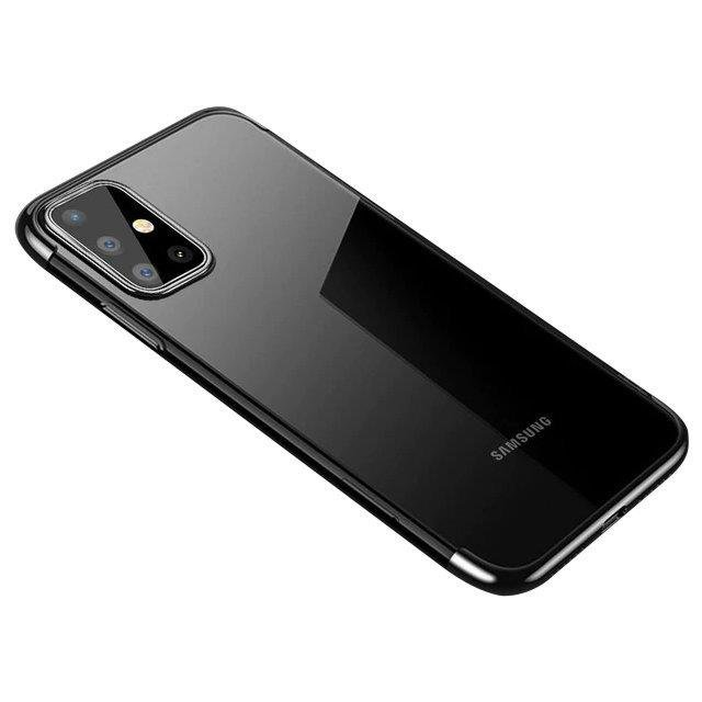 Color Electroplating silikonové pouzdro naSamsung Galaxy A32 4G black