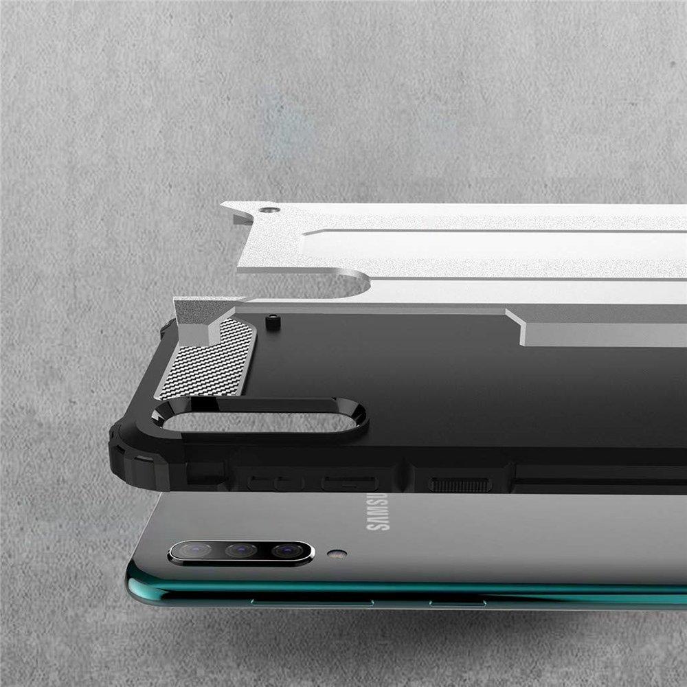 Hybrid polykarbonátové pouzdro Samsung Galaxy A70 silver