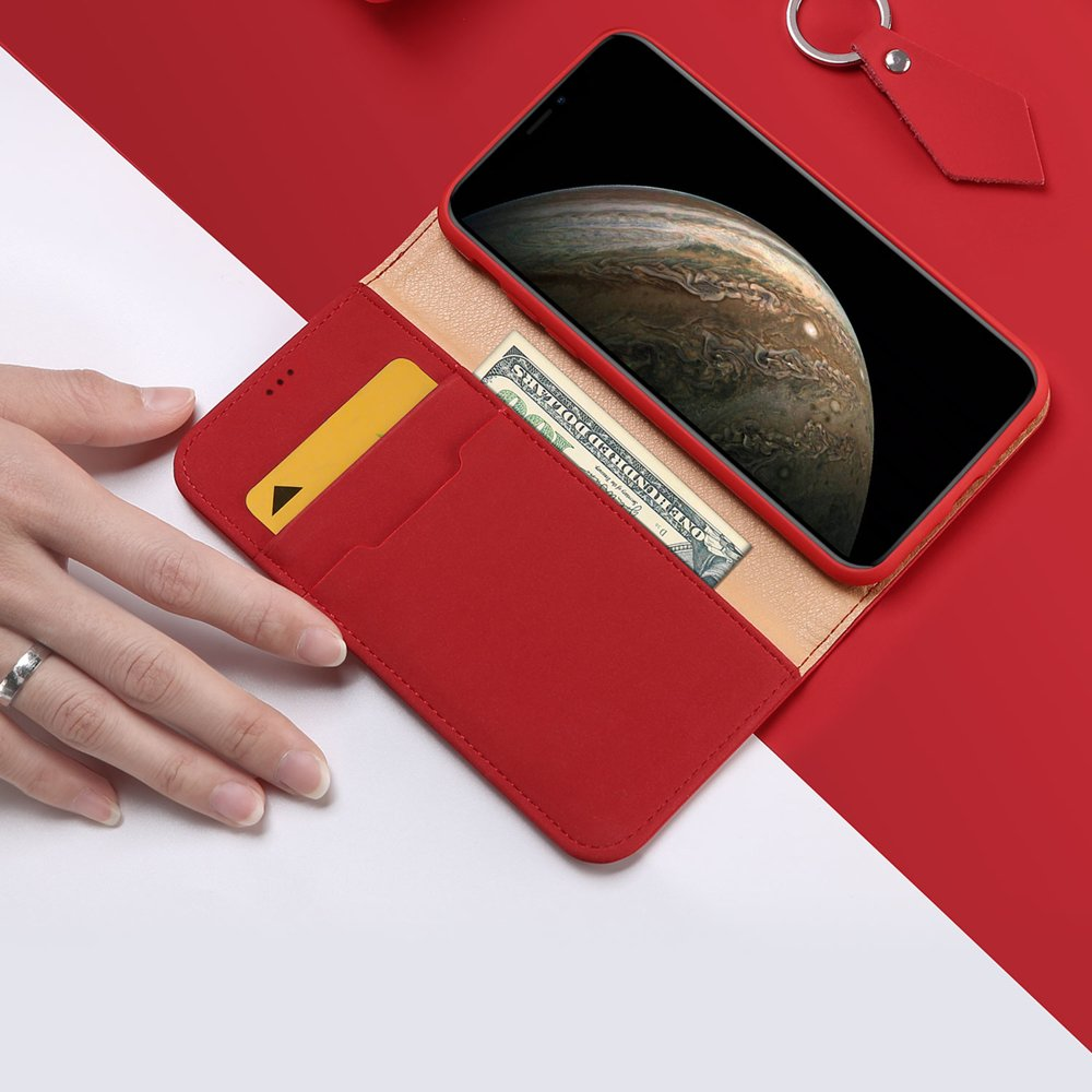 DUX DUCIS Wish kožené pouzdro pro iPhone 11 Pro red