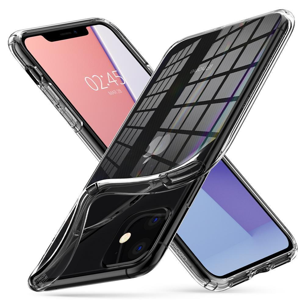 Spigen Liquid Crystal silikonové pouzdro na iPhone 11 Crystal Clear