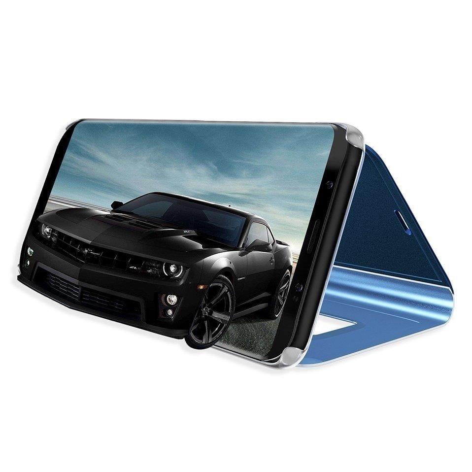 Knížkové pouzdro na Samsung Galaxy M21 blue s průhlednou přední stranou