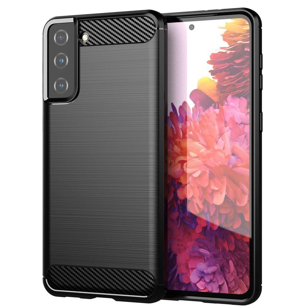 Carbon silikónové puzdro na Samsung Galaxy S21 PLUS 5G black