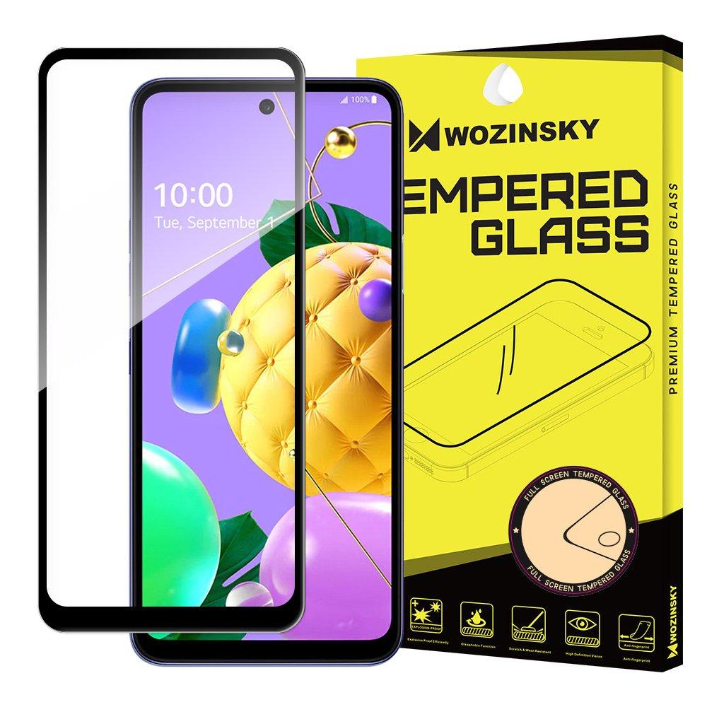 5D tvrzené sklo s rámečkem pro LG K62 / K52 / K42 , černá 9111201928114