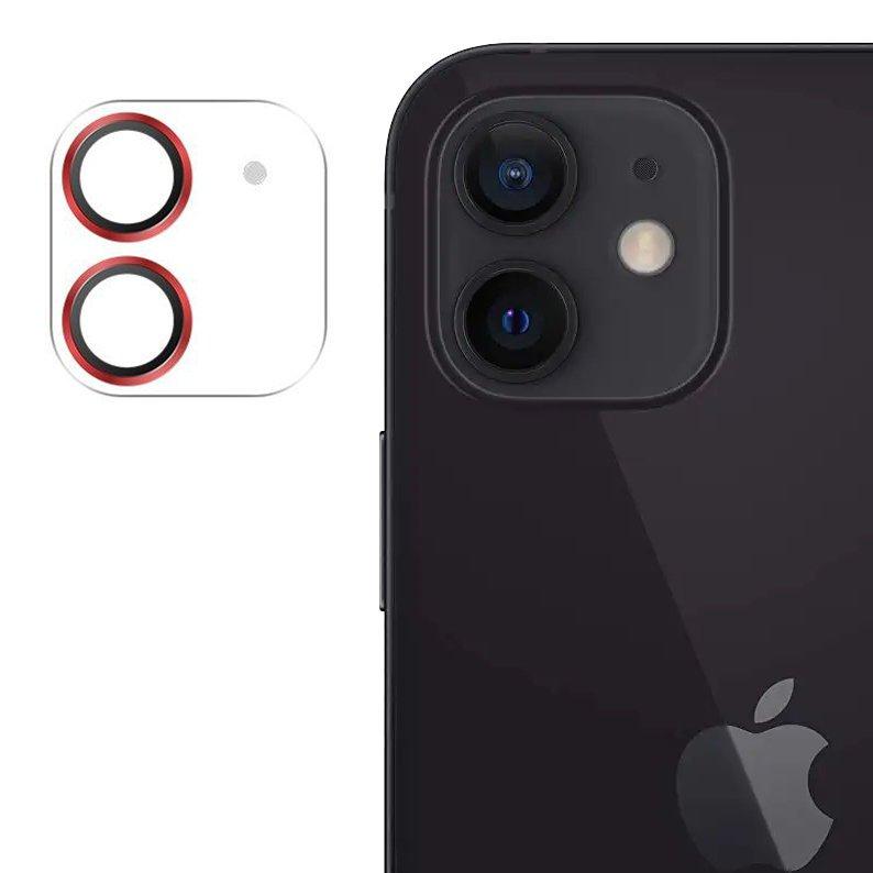 """Joyroom JR-PF687 štýlové ochranné sklo na celý fotoaparát iPhone 12 6,1"""" red"""