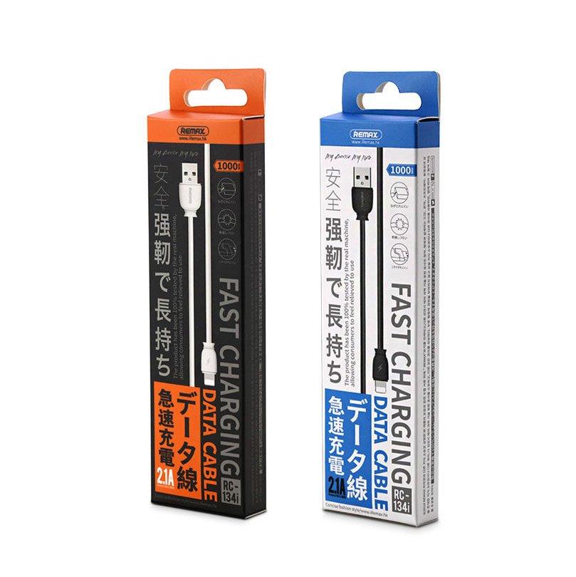 Remax Suji RC-134i USB kabel / Lightning 2.1A 1M white