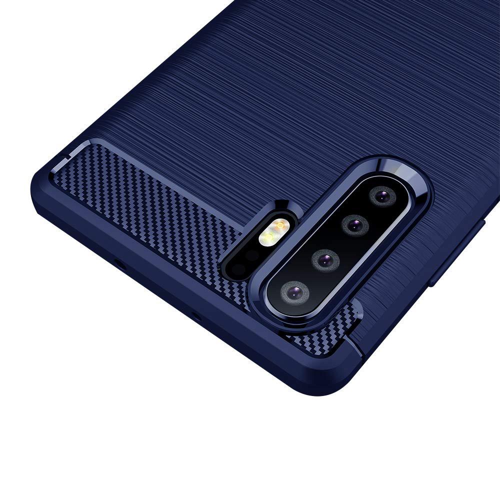 Carbon silikonové pouzdro Huawei P30 Pro blue