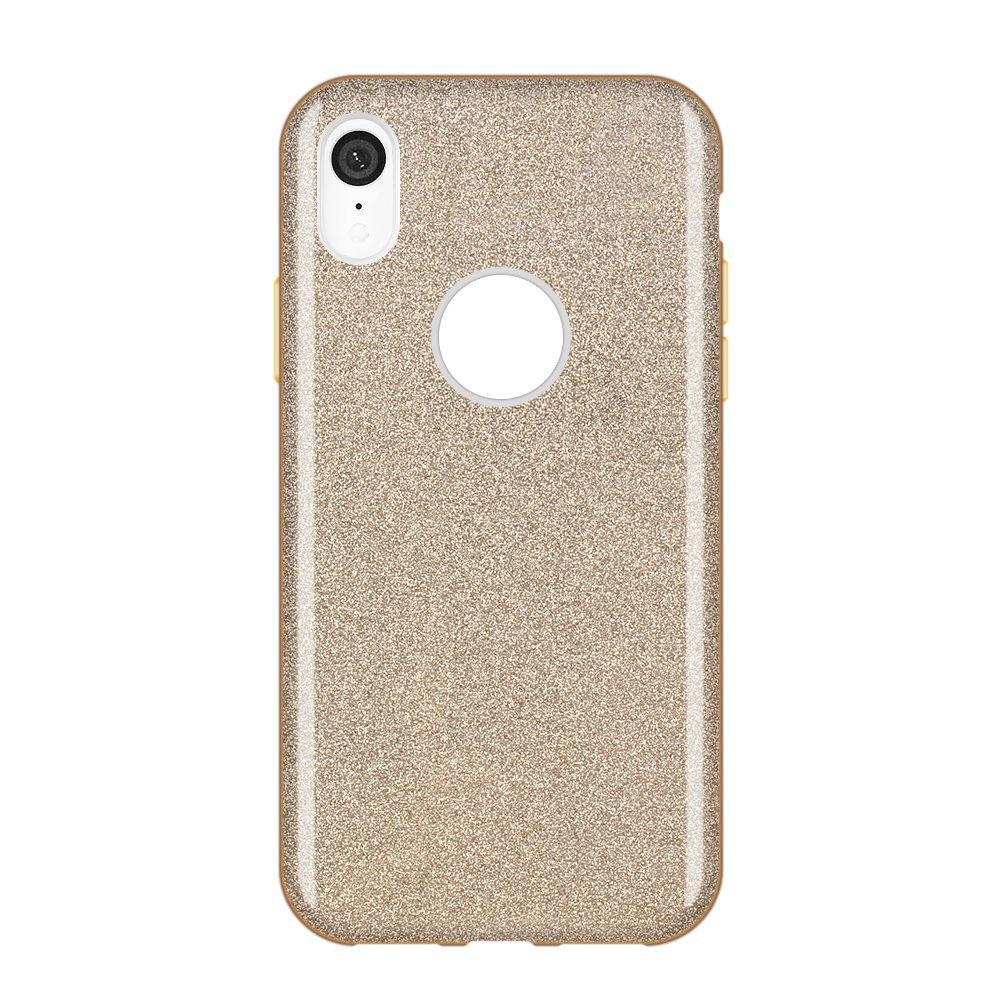 Wozinsky Glitter Shining silikonové pouzdro iPhone XR golden